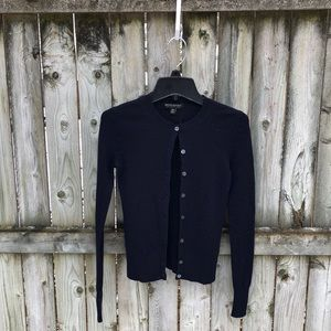 Banana Republic merino ribbed navy cardigan XS
